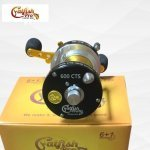 Catfish Pro Tournament Series Round Baitcasting Reel 600 CTS - sitting on its packaging after opening catfish pro tournament series round baitcasting reel 600 cts Catfish Pro Tournament Series Round Baitcasting Reel 600 CTS 4 6 150x150
