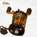 Catfish Pro Tournament Series Round Baitcasting Reel 600 CTS - top-side view showing the details of the reel mechanism  catfish pro tournament series round baitcasting reel 600 cts Catfish Pro Tournament Series Round Baitcasting Reel 600 CTS 8 150x150