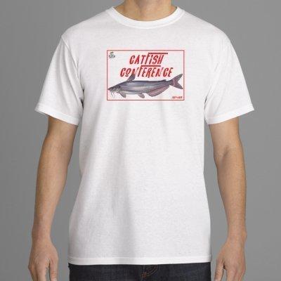 CATC White T-Shirt Basic Catfish Conference 2017