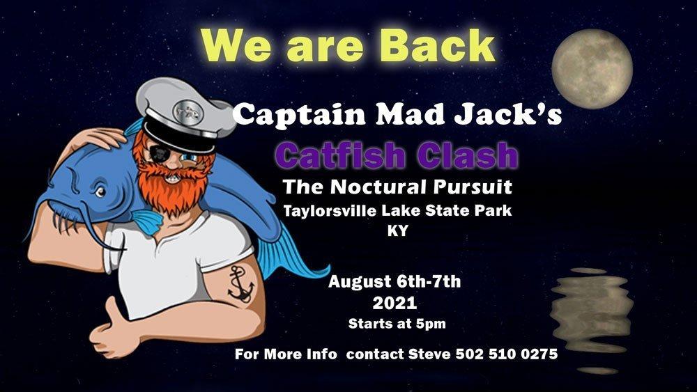 captain mad jack's catfish tournament 2021 Captain Mad Jack's Catfish Tournament 2021 Captain Mad Jacks Banner 2021