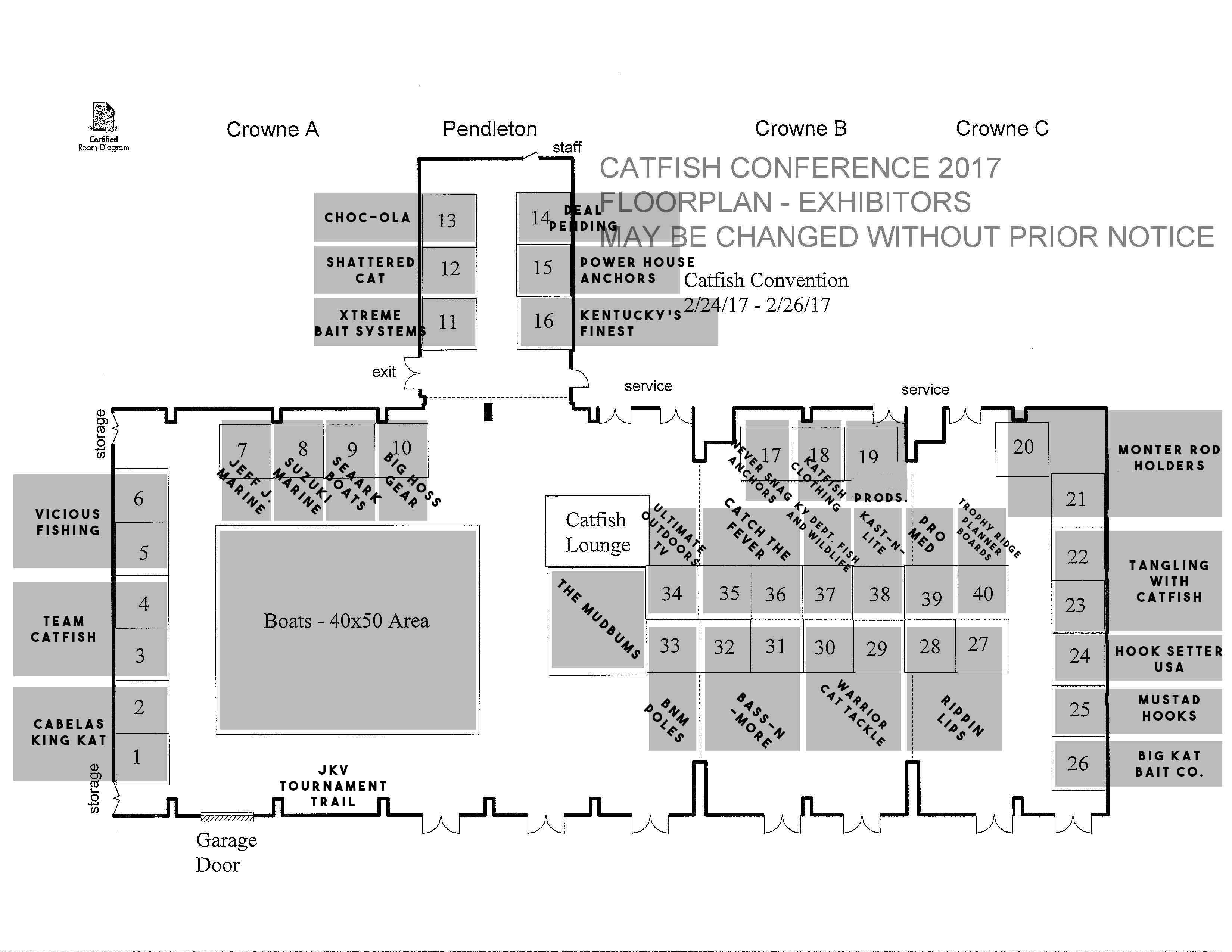 Catfish Conference FloorPlan Feb 16, 2017  Catfish Conference Floor-plan 2017 Catfish Conference FloorPlan Feb 16 2017 1
