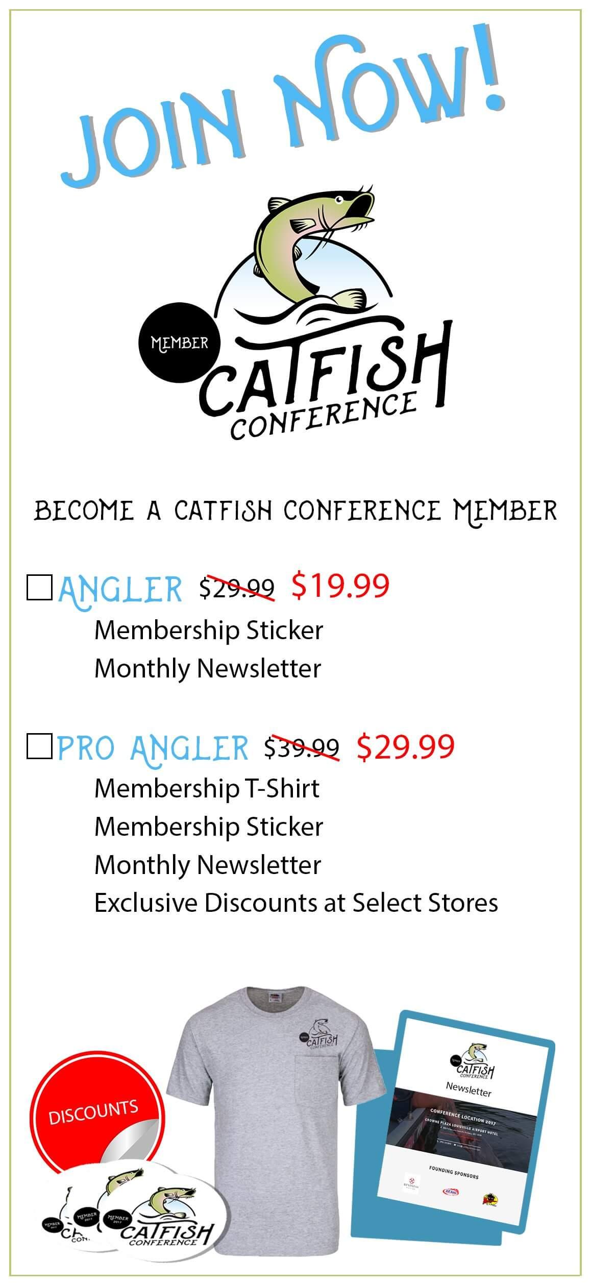 Catfish Conference Pro Angler Membership Catfish Membership Rack Card Front V 4