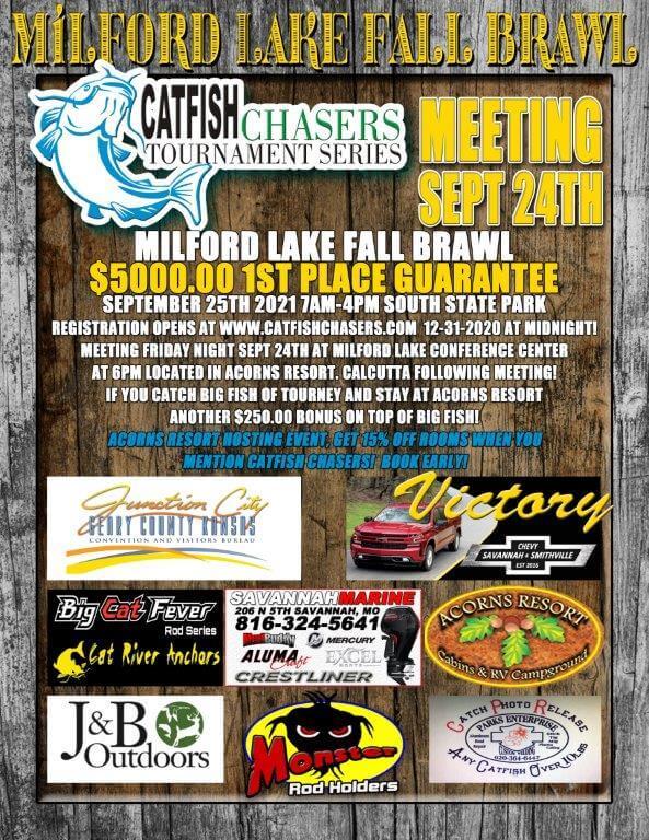 catfish chasers tournament series 2021 | milford, ks - milford lake Catfish Chasers Tournament Series 2021 | Milford, KS – Milford Lake Milford Lake FALL BRAWL