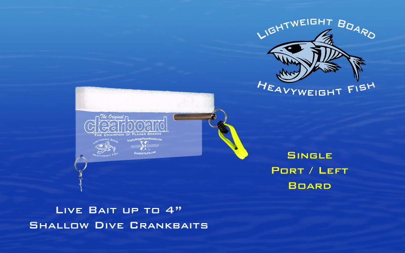 the original clear board Double X Tackle: Original ClearBoard – Small OCB 8Llrg