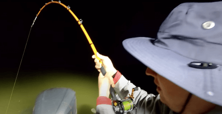Steve Douglas the Catfish Dude - Hard fight vs a huge brown catfish - new gear taken to the limit