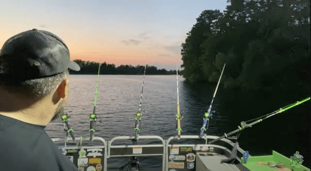 """Palmetto Cats - Beautiful sunset captured in the YouTube video """"Live Catfishing on the Cooper River, SC"""" palmetto cats Palmetto Cats – Live Catfishing on the Cooper River, SC Screen Shot 2021 06 01 at 8"""