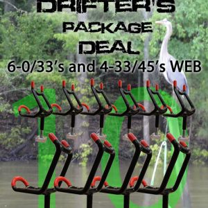 PRO DRIFTER'S ROD HOLDER PACKAGE DEAL (6-0/33 4-33/45) monster rodh holder pro dri 300x300