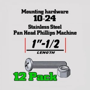 SS Pan-Head Machine Screw with locking hex nut mswn12 300x300