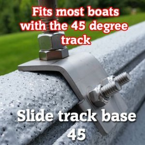 Stainless steel rod holder base  SlideTrack 45 slide track 45 15 300x300